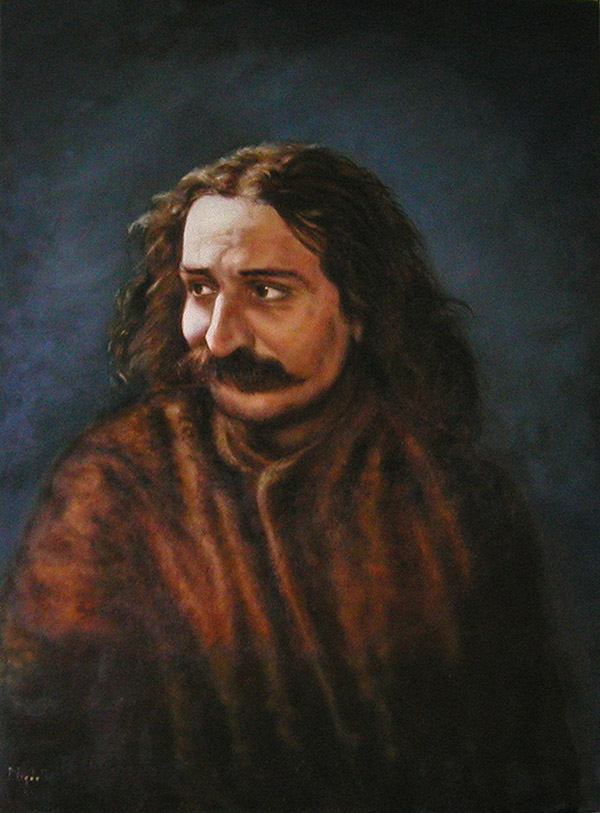 Painting of Meher Baba by Tricia Migdoll